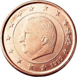 2 евроцента Бельгии (тип 1)