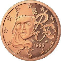 1 евроцент, Франция