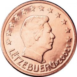 1 евроцент, Люксембург