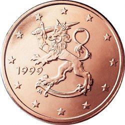 1 евроцент, Финляндия (тип 1)