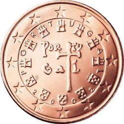 1 евроцент, Португалия