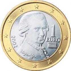 1 евро, Австрия, аверс