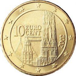 10 евроцентов Австрии, аверс