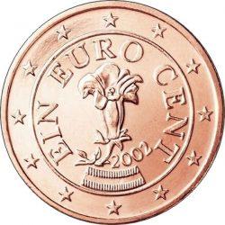 1 евроцент, Австрия, аверс