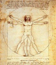 «Витрувианский человек» (Леонардо да Винчи, ок.1490, Галерея Академии, Венеция)