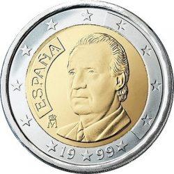 2 евро, Испания (тип 1)