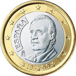 1 евро, Испания (тип 1)