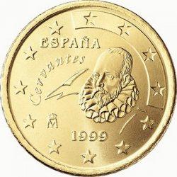 10 евроцентов, Испания (тип 1)