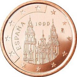 1 евроцент, Испания (тип 1)