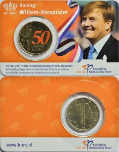 50 cent Netherlands 2017 coincard