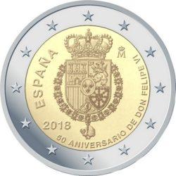 2 евро, Испания (50 лет со дня рождения короля Филиппа VI)