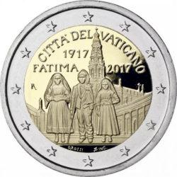 2 евро, Ватикан (100-летие явления Девы Марии в Фатиме)