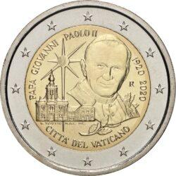 2 евро, Ватикан (100 лет со дня рождения папы римского Иоанна Павла II)