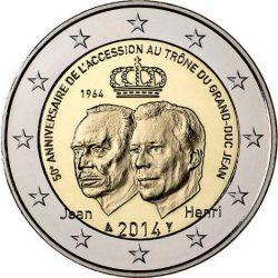 2 евро, Люксембург (50-летие вступления на престол Великого Герцога Жана)