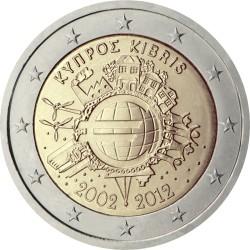 2 евро, Кипр (10 лет наличному обращению евро)