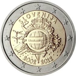2 евро, Словения (10 лет наличному обращению евро)