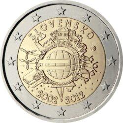 2 евро, Словакия (10 лет наличному обращению евро)