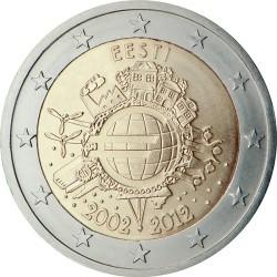 2 евро, Эстония (10 лет наличному обращению евро)