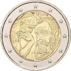 2 евро, Франция (100 лет со дня смерти Огюста Родена)
