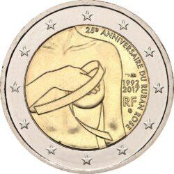 2 евро, Франция (25-летие розовой ленте)