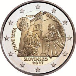 2 евро, Словакия (550-летие Истрополитанского университета)