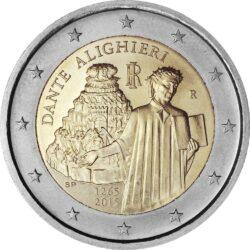 2 евро, Италия (750 лет со дня рождения Данте Алигьери)