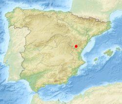 Теруэль на карте Испании