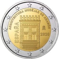 2 евро, Испания (Архитектура мудехар в Арагоне)