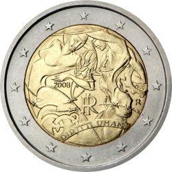 2 евро, Италия (60-летие принятия Всеобщей декларации прав человека)