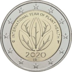 2 евро, Бельгия (Международный год охраны здоровья растений)