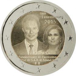 2 евро, Люксембург (15-летие вступления на престол Великого Герцога Анри), аверс
