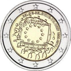 2 евро, Бельгия (30 лет флагу Европейского союза)