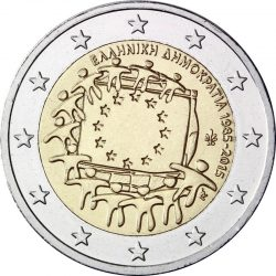 2 евро, Греция (30 лет флагу Европейского союза)