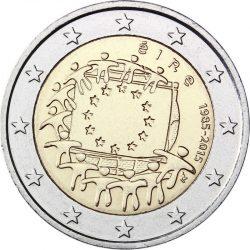 2 евро, Ирландия (30 лет флагу Европейского союза)