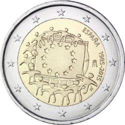 2 евро, Испания (30 лет флагу Европейского союза)