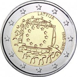 2 евро, Латвия (30 лет флагу Европейского союза)