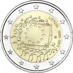 2 евро, Литва (30 лет флагу Европейского союза)