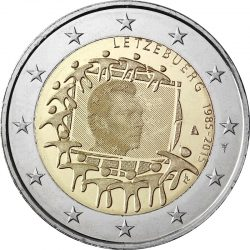2 евро, Люксембург (30 лет флагу Европейского союза)