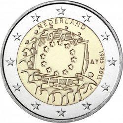 2 евро, Нидерланды (30 лет флагу Европейского союза)