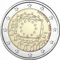 2 евро, Португалия (30 лет флагу Европейского союза)