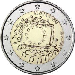 2 евро, Словакия (30 лет флагу Европейского союза)