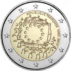 2 евро, Франция (30 лет флагу Европейского союза)