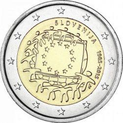 2 евро, Словения (30 лет флагу Европейского союза)