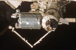 Модуль «Коламбус» на орбите. Масса модуля равна 12 т 112 кг. Длина 6871 мм. Диаметр 4477 мм. Планируемая длительность функционирования «Коламбус» 10 лет. Стоимость его строительства превысила $1,9 млрд.