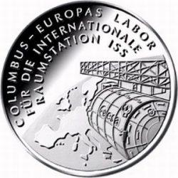 10 евро, Германия (Коламбус - европейская лаборатория для Международной космической станции)