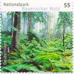 Почтовая марка, посвящённая Национальному парку Баварский лес