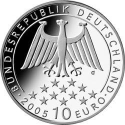 10 евро, Германия (200 лет со дня смерти Фридриха Шиллера)
