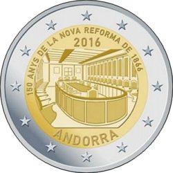 2 евро, Андорра (150-летие новой реформы 1866 года)