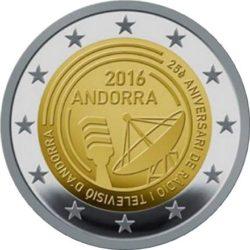 2 евро, Андорра (25-летие радио- и телевещания в Андорре)