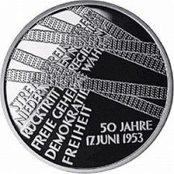 10 евро, Германия (Народное восстание 17 июня 1953 г.)